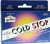 Yin Chiao Coldstop Cold or Flu 15 Tabs, Dr. Shen's