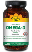 Natural Omega-3 1000 mg 50 sGels, Country Life