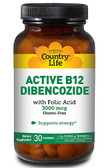 Active B-12 Dibencozide 3000 mcg 30 Sublingual Loz, Country Life