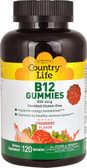 B12 Gummies Strawberry 850 mcg 120 Gummies, Country Life