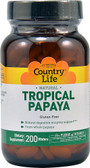 Natural Tropical Papaya No Gluten 200 Wafers, Country Life