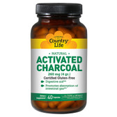Natural Activated Charcoal 260 mg 40 Caps, Country Life