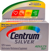 Silver Multivitamin & Multimineral for Adults 50+ 125 Tabs, Centrum