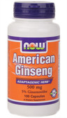 American Ginseng 500 mg 100 Caps, Now Foods