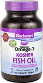 Natural Omega-3 Kosher Fish Oil 60 sGels, Bluebonnet Nutrition