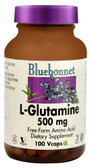 L-Glutamine 500 mg 100 Vegetable Caps, Bluebonnet Nutrition