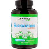 Daily Hair Growth Vitamins With DHT Blocker, 120 Vegetarian Caps Zenwise