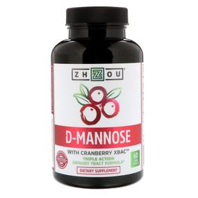 D-Mannose with Cranberry Xbac 60 Vegetarian Caps Zhou