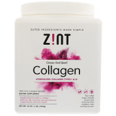 Grass-Fed Beef Collagen, Hydrolyzed Collagen Types I & III, 16 oz Zint