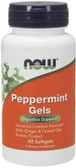 Peppermint Gels  90 Softgels Now Foods, Digestion