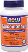 Glucomannan 575 mg 180 Caps, Now Foods, Diet