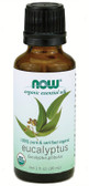 Organic Eucalyptus Oil 1 oz, Now Foods