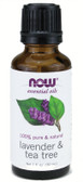 Lavender & Tea Tree Oil 1 oz Now Foods, Relaxing
