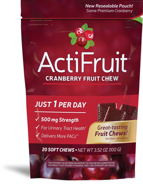 ActiFruit with Cran-Max 20 soft Chews Enzymatic Therapy