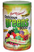 Greens World  Delicious Greens 8000 Berry Flavor 10.6 oz, Superfood
