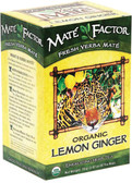 Lemon Ginger Organic Mate 20 Bags, Mate Factor