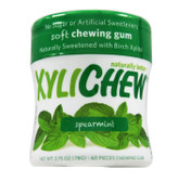XyliChew Gum Spearmint Jar 60, No Sugar Chewing Gum