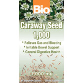 Bio Nutrition Caraway Seed 1000 mg 60 Caps, Gas & Bloating