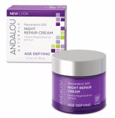 Resveratrol Q10 Night Repair Cream 1.7 oz Andalou, Renew Skin Vitality