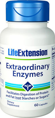 Life Extension, Extraordinary Enzymes 60 Caps