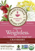 Organic Weightless Tea Cranberry 16 Bags Traditional Medicinals Teas