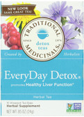 Everyday Detox Tea 16 Bags, Traditional Medicinals Teas, Liver