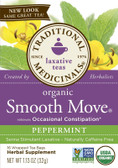 Traditional Medicinals Smooth Move Tea Peppermint 16 Tea Bags, Constipation