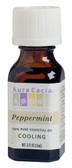 Aura Cacia Peppermint 100% Pure Essential Oil 0.5 oz bottle