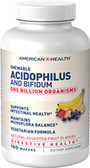 Acidophilus Chewable Assorted Fruit Flavor 120 wafers, American Health
