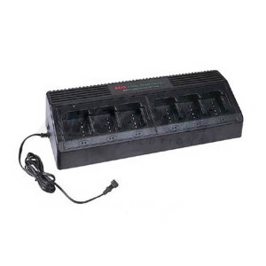 6-Bank Two-Way Radio Charger