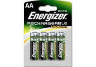 Energizer AA Pack of 4  NiMH 1.2V Rechargeable Batteries