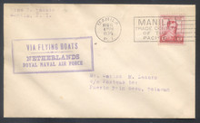pif099a4. Philippines FFC #99a (old #99) Manila 3-11-1935 to Puerto Princesa 3-12 carried on Netherlands Royal Naval Air Force First Goodwill Flight. Neat & Attractive cover!