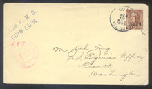 gm08f. Guam 8 (F-VF) tied by Guam 6-13-1905 duplex on REGISTERED cover to US. Scarce & Attractive registry usage!