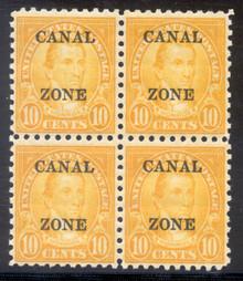 cz099e2. Canal Zone 99, Block of 4, Unused, 1 LH/3 NH, Very Fine. Fresh & Attractive Block!