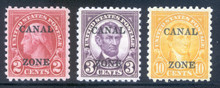 cz097a. Canal Zone 97-99 Unused, LH, Fresh & Very Fine. Very Difficult Set this Nice!