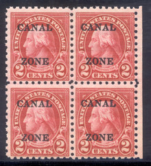cz097d2. Canal Zone 97, Block of 4, Unused, 2 LH/2 NH, F-VF+. Scarce & Attractive Block!
