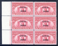 cz096f4. Canal Zone 96 Plate Block, NH, VF-XF. Fresh & Choice Plate!