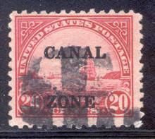 """cz092l. Canal Zone 92 variety """"Z"""" under """"C"""", Used, F-VF+. Interesting Variety!"""