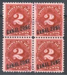 czj02ub. Canal Zone J2 Block of 4 used VF-XF. Choice multiple!