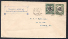 czu01h. Canal Zone U1 used with #38 Balboa Heights, 5-14-1917, to US