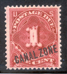 czj01. Canal Zone J1 Unused LH F-VF+. Fresh.