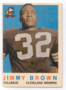 Football 1959 Topps 10 Jim Brown 2nd Year card. Scarce!