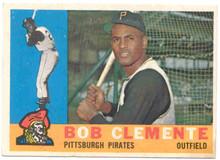 Baseball 1960 Topps 326 Bob (Roberto) Clemente card