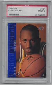 BASKETBALL 1996 SP 134 KOBE BRYANT ROOKIE CARD LOS ANGELES LAKERS GUARD/FORWARD PSA GRADED MINT 9