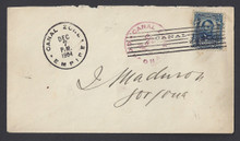 cz006f1. CANAL ZONE 6 COVER, EMPIRE, 12-7-04, TO GORGONA. APES CERTIFICATE. SCARCE & ATTRACTIVE!
