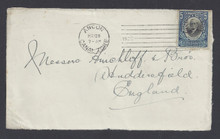 cz048c6. Canal Zone 48 cover front Ancon, 5-28-1920, to England. Very Scarce 5c Mt. Hope local overprint cover!