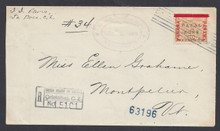 cz013o6. Canal Zone 13 LA BOCA 7-5-1906 Registered cover to US. Outstanding Registered cover!!