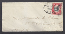 cz032h3. Canal Zone 32 TABERNILLA 10-20-1910 neat small cover to US. Scarce small town cancel.