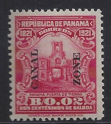cz061c3. Canal Zone 61 Unused NH VF-XF. P.O. Fresh & Superbly centered Jumbo!
