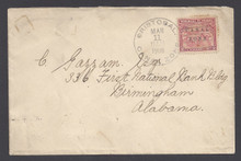 cz010o7. Canal Zone 10 tied on cover by CRISTOBAL, 3-11-1906, duplex to U.S. Attractive cover.